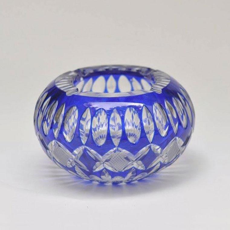 Cenicero Cristal Azul